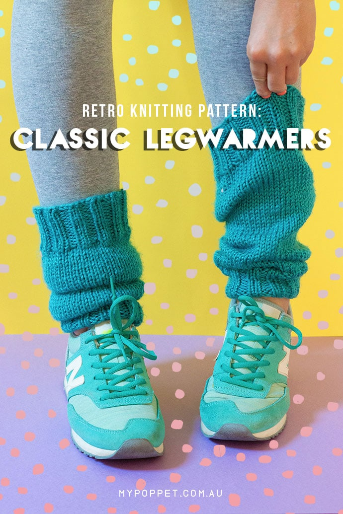Retro Knitting Pattern: Classic Legwarmers | My Poppet Makes