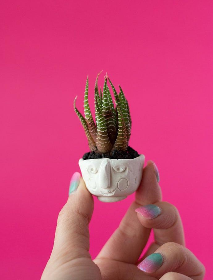DIY Polymer Clay Mini Planters mypoppet.com.au
