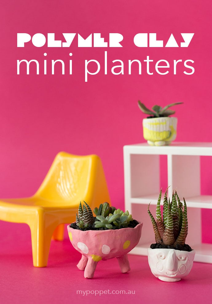 DIY Polymer Clay Mini Planters