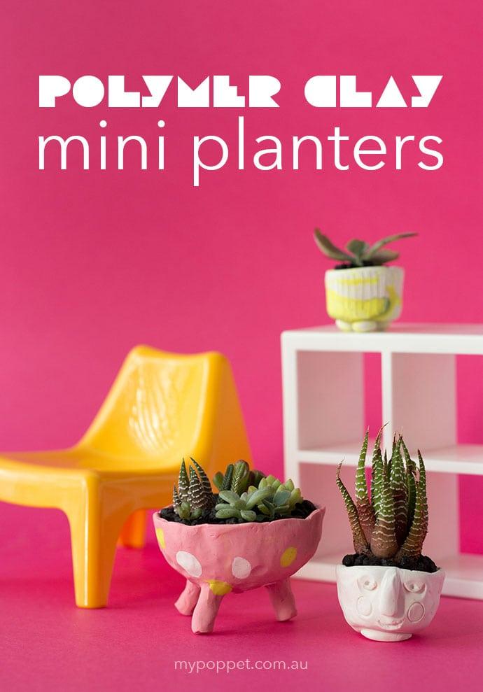DIY Polymer Clay Mini Planters