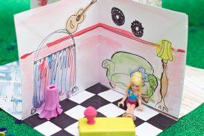 Papercraft: Folding Paper Dollhouse