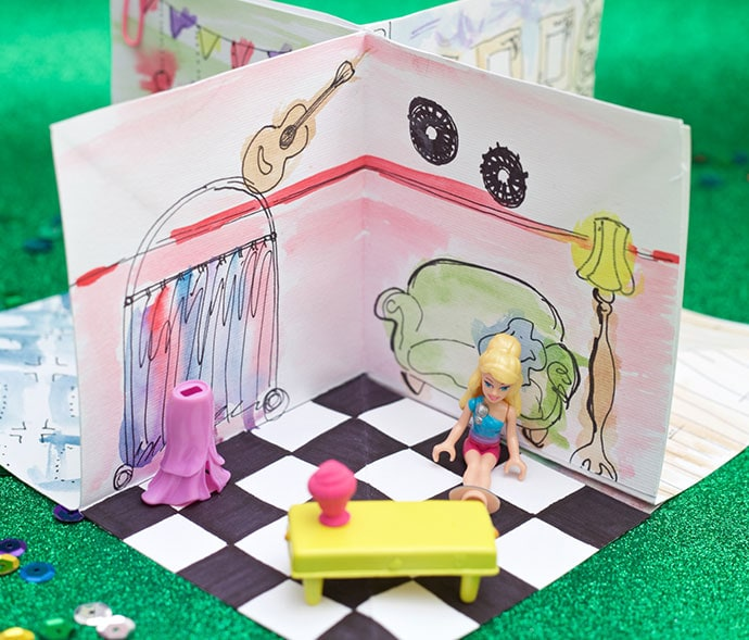 folding paper dollhouse
