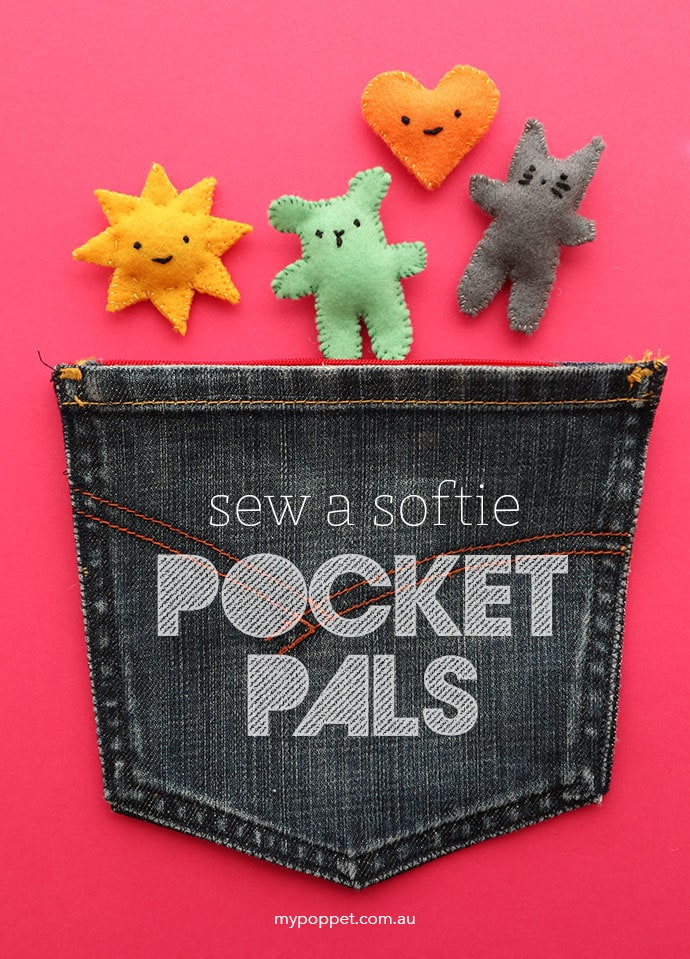 Sew a Softie - Pocket Pals Mini Sort toys that fit in your pocket - mypoppet.com.au