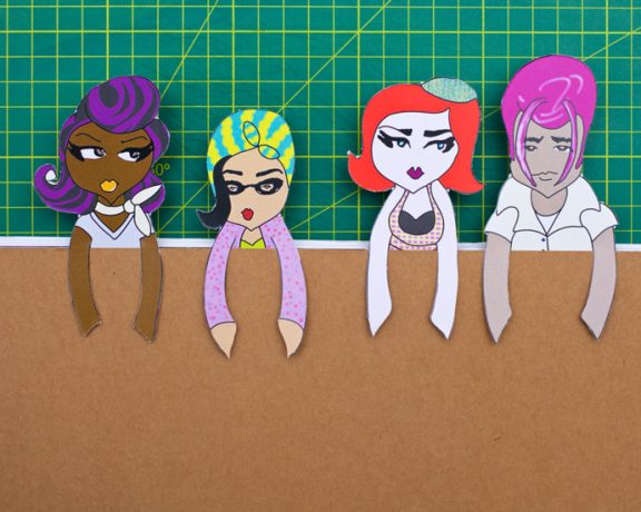 Papercraft Bookmarks: www.mypoppet.com.au/makes