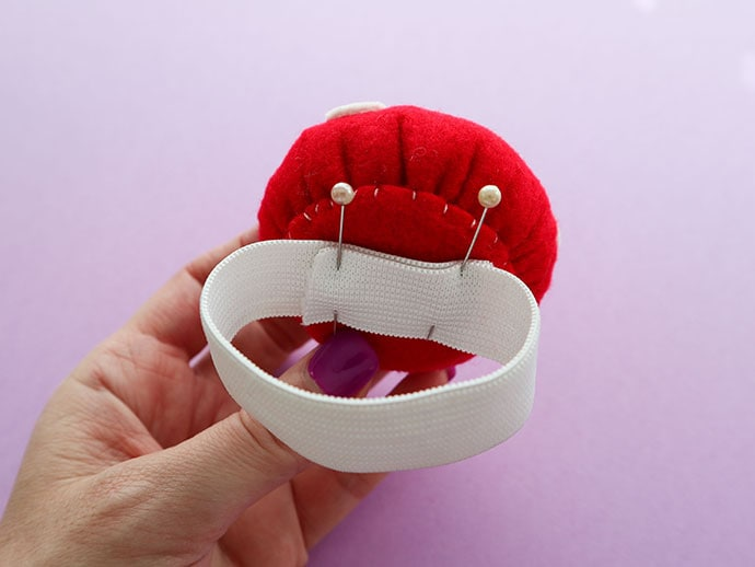 How to make a Wrist Pincushion with template mypoppet.com.au