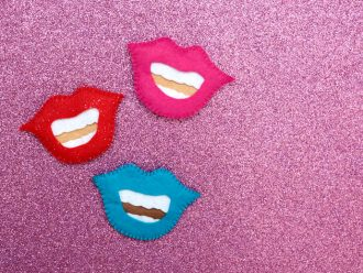 Felt craft mouth tooth pouch - mypoppet.com.au