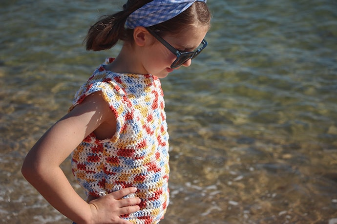 Free Crochet Pattern - Girl's cotton top - mypoppet.com.au