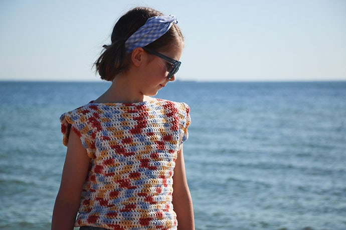 Playtime Top Crochet Pattern - mypoppet.com.au