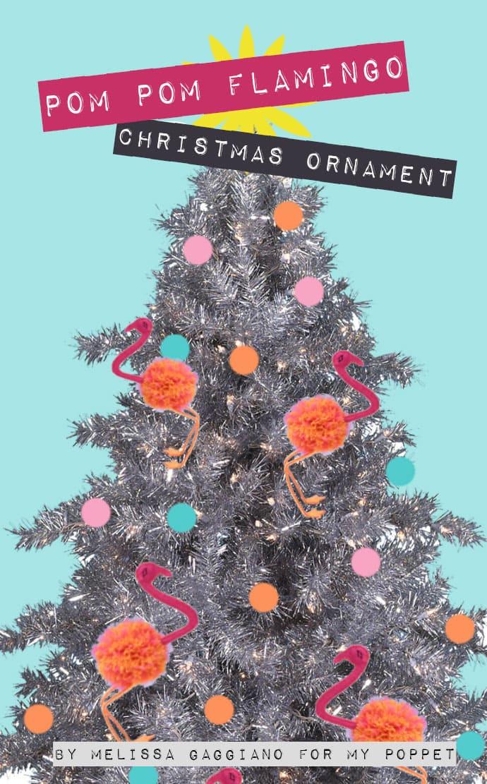 Flamingo Christmas Ornament DIY - Mypoppet.com.au