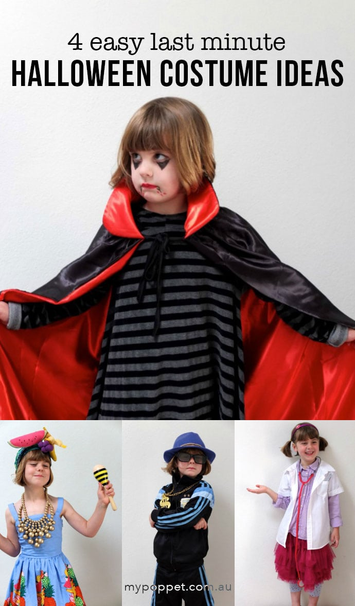 Easy Kids Costume ideas on a Budget - mypoppet.com.au