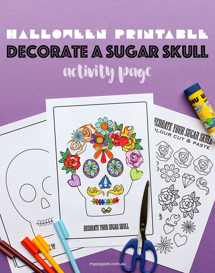 Free Halloween Printable Decorate A Sugar Skull Activity Page My
