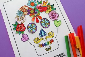 Free Halloween Printable: Decorate a Sugar Skull Activity Page