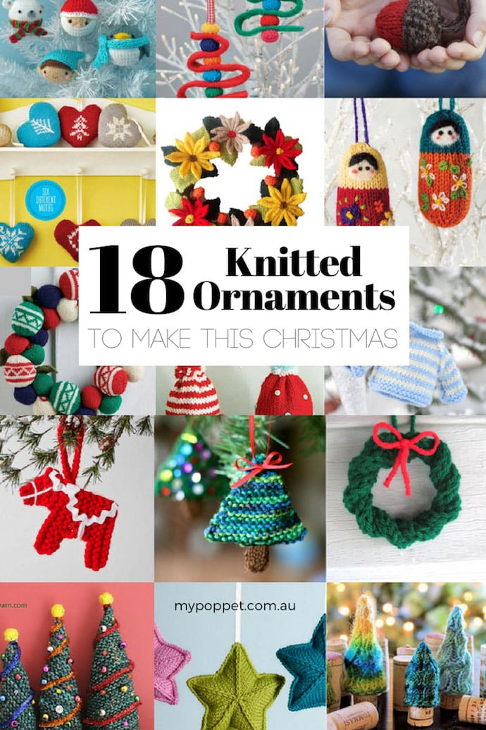 Knitted Christmas ornaments - mypoppet.com.au