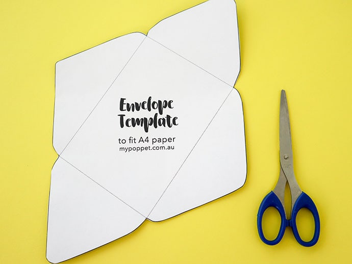 Printable Envelope Template - mypoppet.com.au