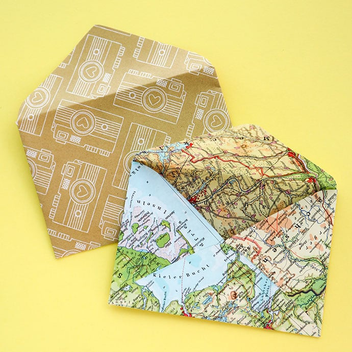 Make envelopes with recycled paper - mypoppet.com.au