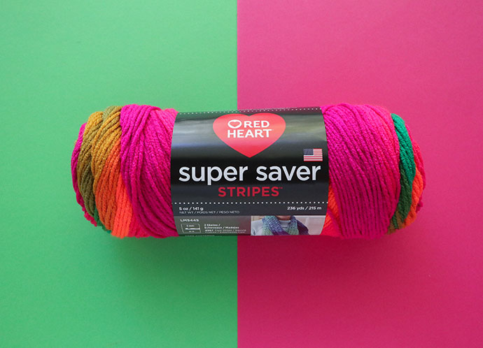 Red Heart Super saver stripes yarn review mypoppet.com.au
