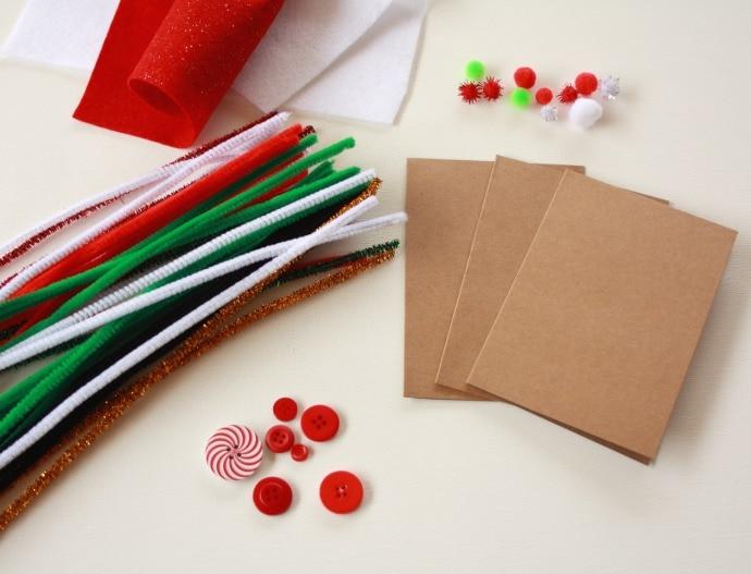kids craft handmade christmas cards my poppet makes