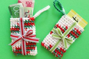 Crochet Gift Card Holder Christmas Ornament