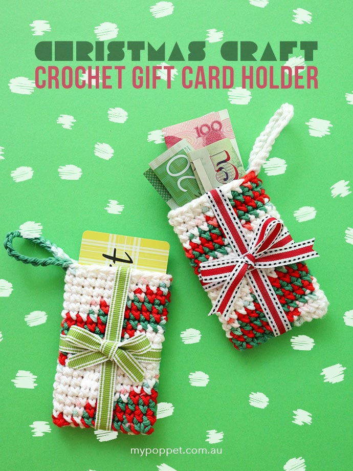 Crochet Gift Card holder Ornament mypoppet.com.au