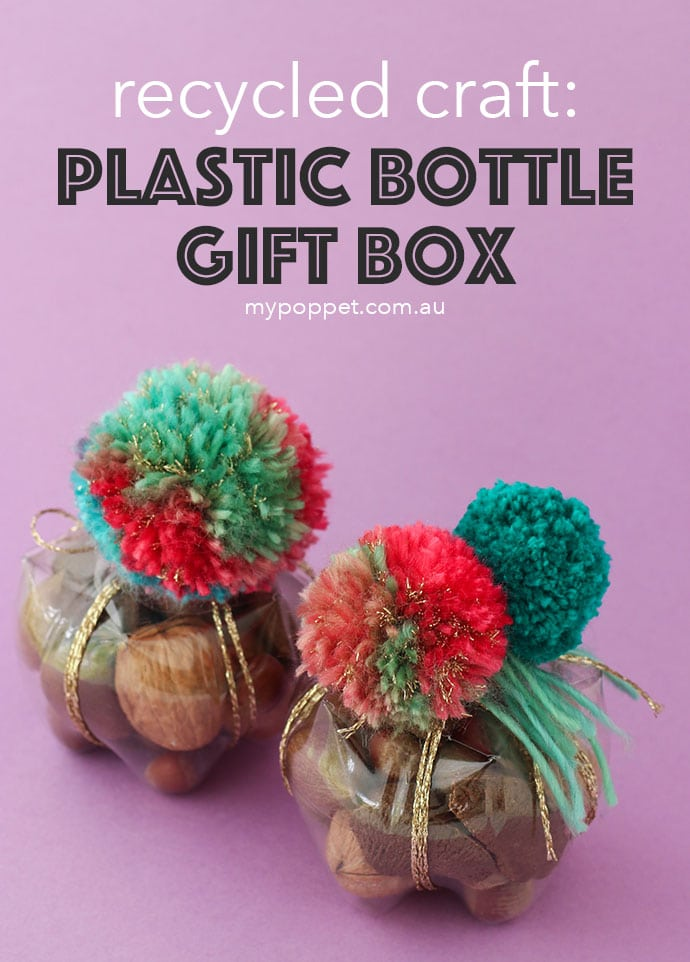DIY recycle plastic soda pop bottles into little gift storage boxes - mypoppet.com.au