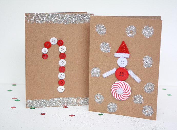 Ideas For Christmas Cards Handmade.Kids Craft Handmade Christmas Cards My Poppet Makes