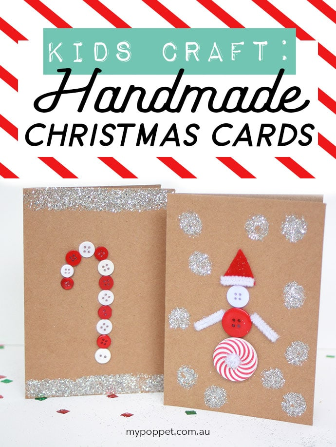 Kids Craft Christmas cards mypoppet.com.au