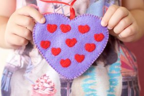Valentine's Day Felt Heart Charm