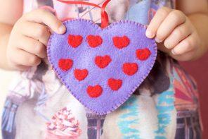 Sweetheart valentine felt craft heart - mypoppet.com.au