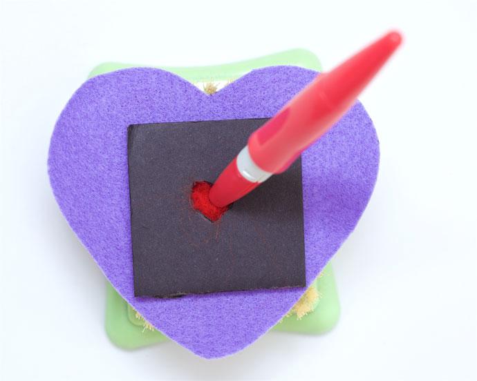 valentine felt craft heart - mypoppet.com.au