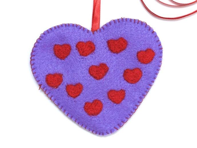 Sweetheart Portrait valentine felt craft heart - mypoppet.com.au