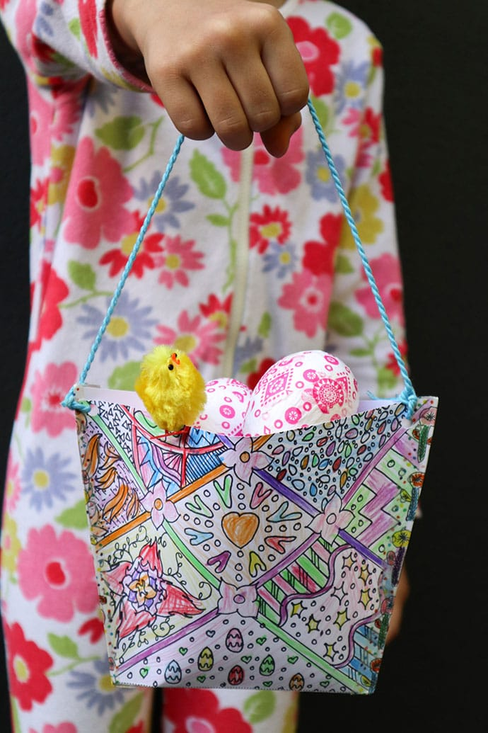 Kids Craft: Print & Color Easter Basket - mypoppet.com.au