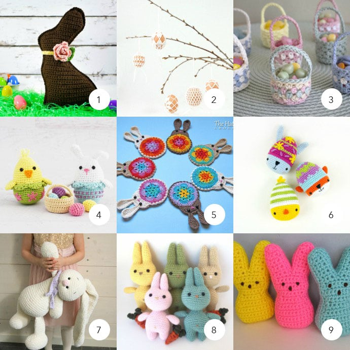 18 Easter Crochet Patterns - Mypoppet.com.au