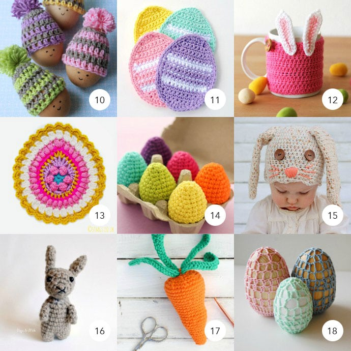 Easter Crochet Free Patterns Numbered My Poppet Makes