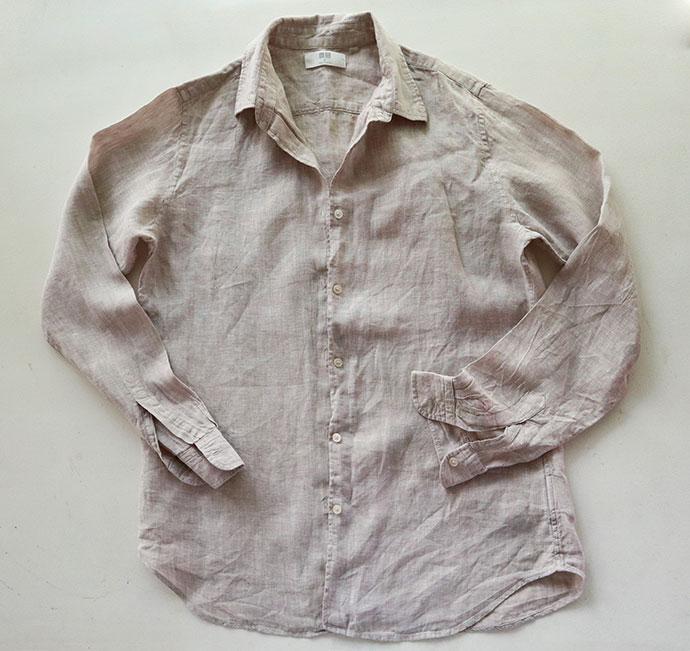 linen shirt makover - before - mypoppet.com.au