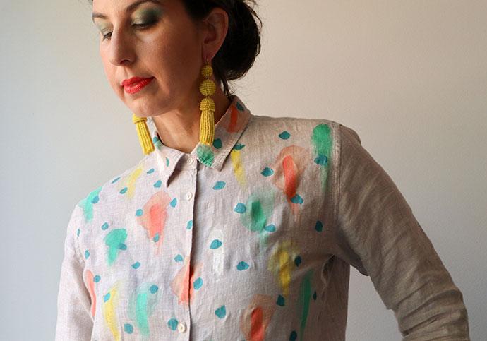 Linen shirt makeover -mypoppet.com.au