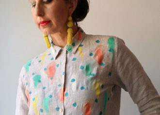 How to paint a shirt with fabric paint - mypoppet.com.au