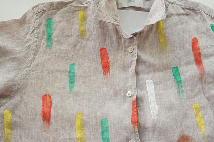 painting a shirt - mypoppet.com.au