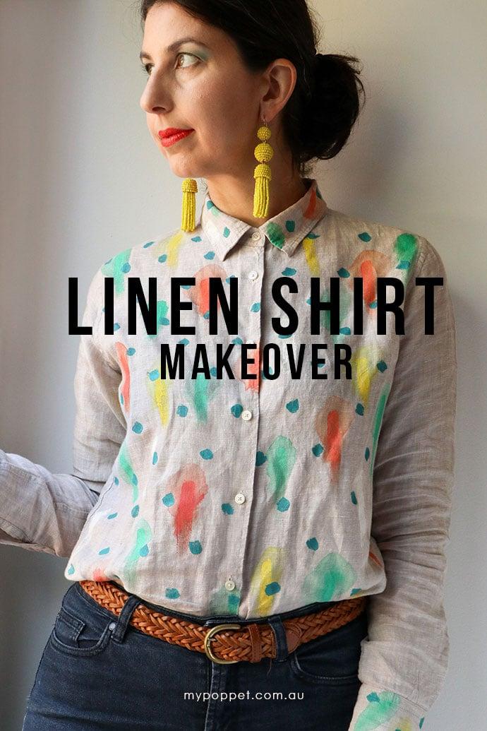 Linen shirt Makeover - mypoppet.com.au