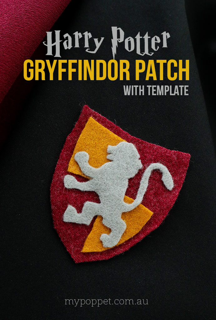 DIY Harry Potter Gryffindor no-sew Patch - mypoppet.com.au