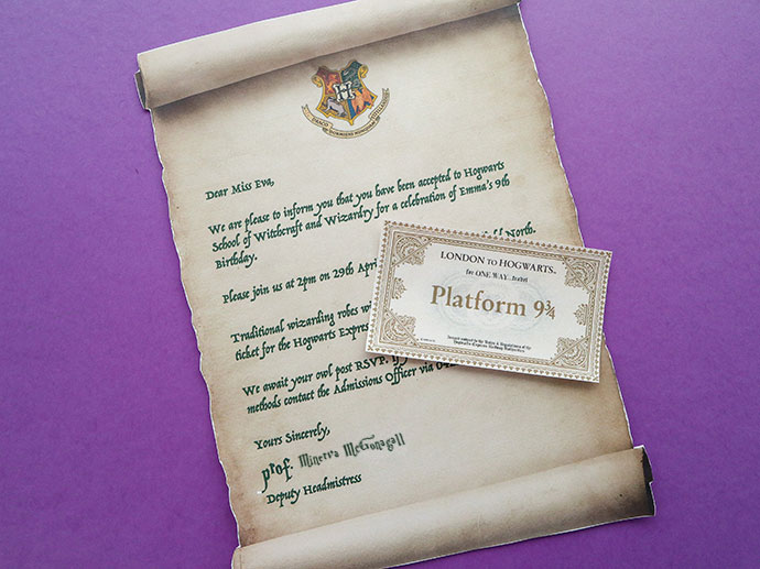 Harry Potter Party Invitation Template Hogwarts Acceptance Letter
