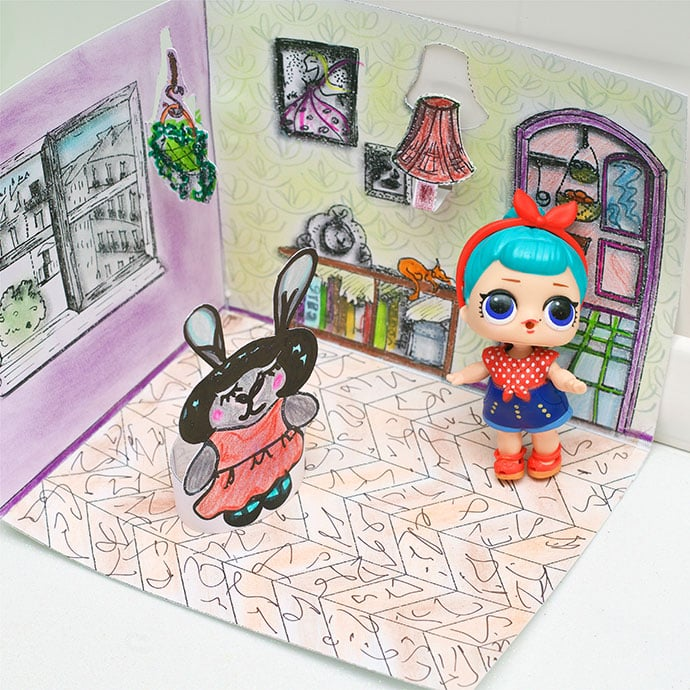 Printable paper doll house - mypoppet.com.au
