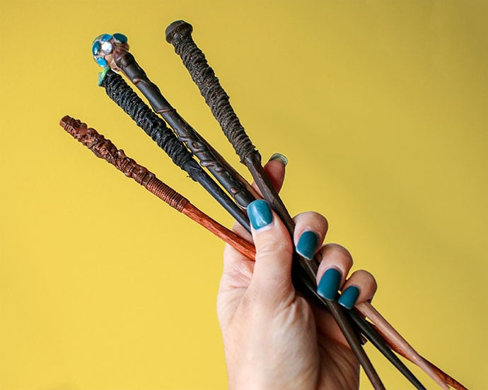 DIY Harry Potter Wizard Wands - mypoppet.com.au