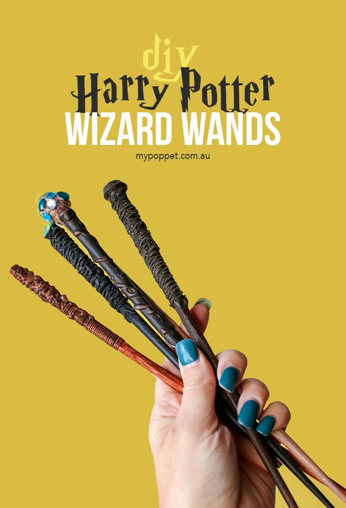 Diy harry potter wizard wands my poppet makes for Birthday wand