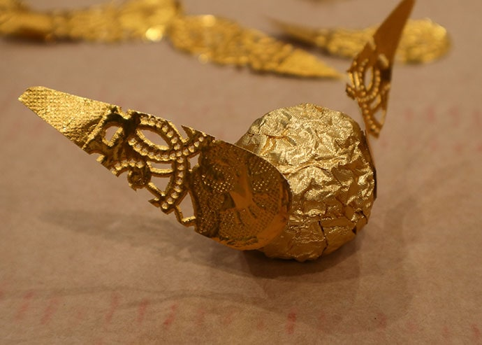 How to make a Chocolate Golden Snitch - mypoppet.com.au