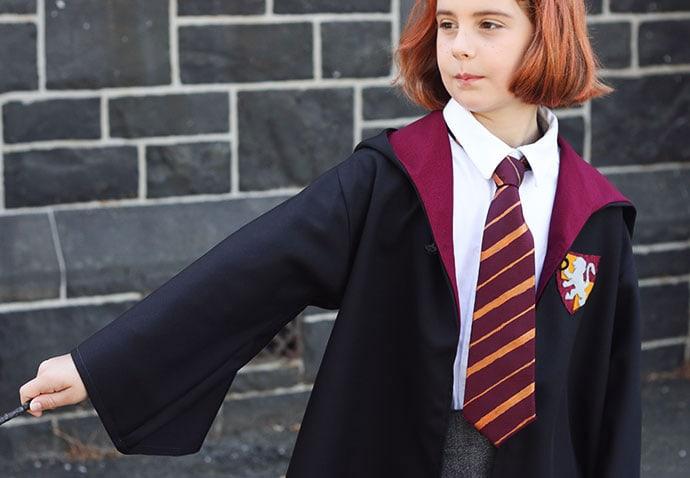DIY Gryffindoor Tie - mypoppet.com.au