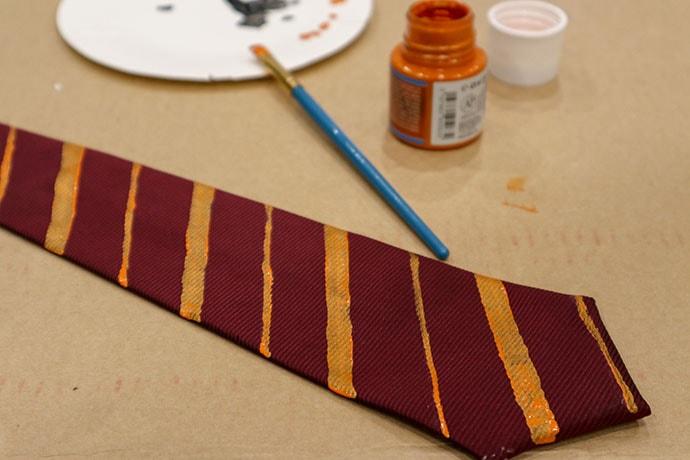 DIY Gryffindor Tie - mypoppet.com.au