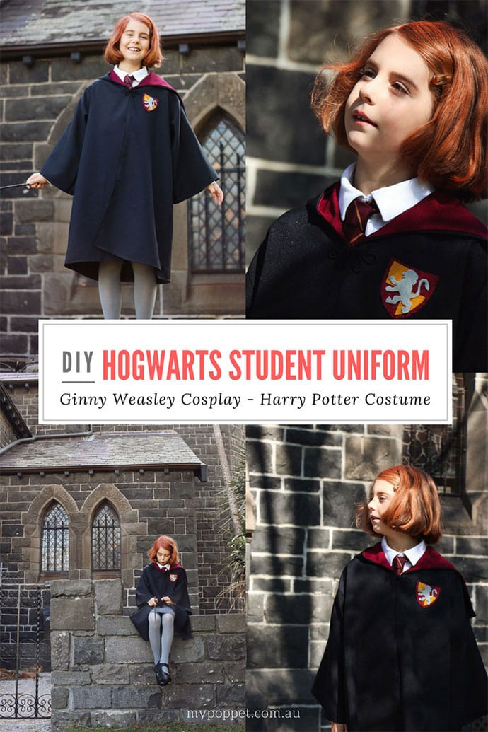 How to make Hogwarts Robes and Uniform - Harry Potter Costume - mypoppet.com.au