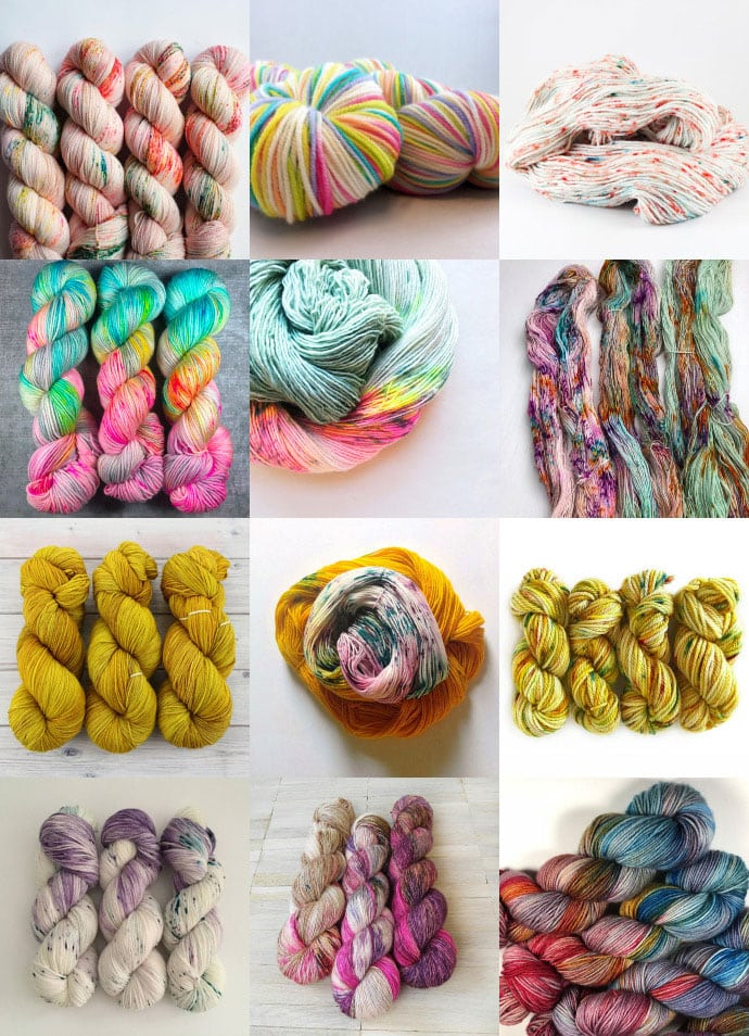 Etsy Shopping - Hand Dyed Yarns - mypoppet.com.au