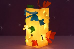 Paper Craft – Make a Butterfly Lantern