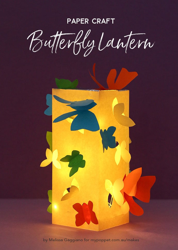 Paper Craft - Butterfly lantern - mypoppet.com.au